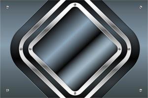 blaue und silberne Metallplatten mit Schrauben-Technologiekonzept vektor