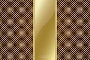 Metallic Gold Panel mit goldener Linie Textur