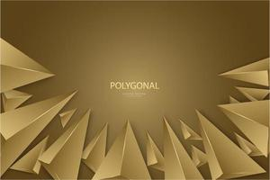 Luxus goldenes 3D-Dreiecke modernes Design. vektor