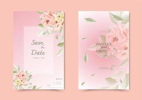 blommig bröllop inbjudningskort.