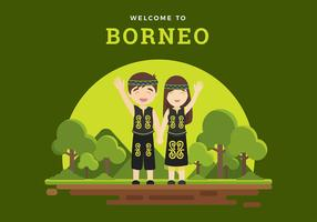 Välkommen till Borneo Free Vector