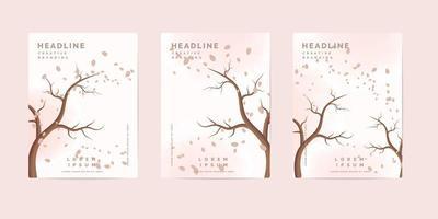 Herbst Natur Buch Cover Vorlagen vektor