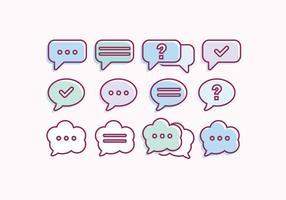 Vector Sammlung von Chat Bubbles