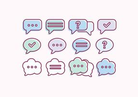Vektor samling av chattbubblor