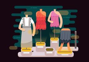 Kleidung mit Rüschen Storefront Vector