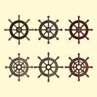 skepps hjul vektor element samling