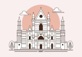 Westminster Abbey London Landmark Vektorillustration