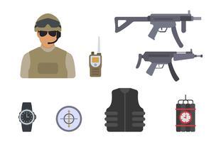 Flache Soldat-Vektoren