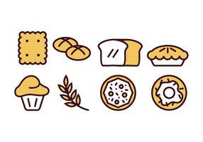 Backen und Bäckerei Icon Pack vektor