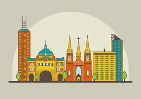 Kostenlose Melbourne Landmark Illustration vektor