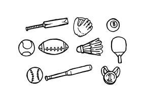 Freier Sport-Hand gezeichneter Ikonen-Vektor vektor