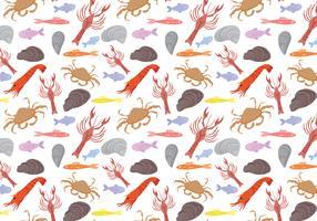 Gratis Seafood Pattern Vectors