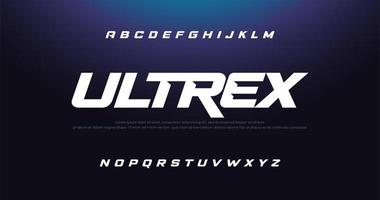 sport modern kursiv alfabetet teckensnitt vektor