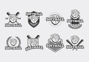 Softball-Handschuh-Vektor vektor