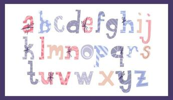 söt jul alfabetet