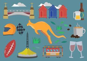Melbourne Icon-Set vektor