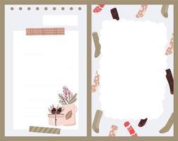 Weihnachtsfeiertagsaufkleber, Tagebuch, Notizen gesetzt