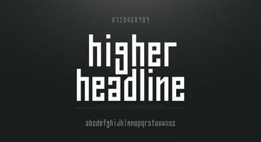 komprimierte große einfache Kleinbuchstaben