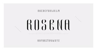 elegant minimal mode versaler alfabetet vektor