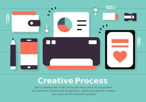 Kostenloses flaches digitales Marketing-Konzept-Vektor