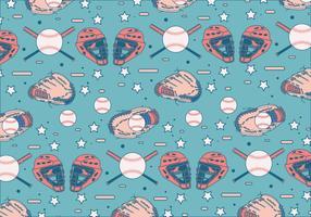 Softball-Handschuh-Muster-Vektor