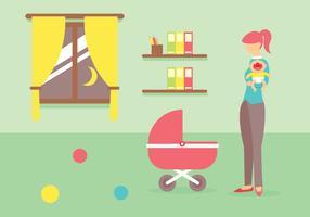 Babysitter-Vektor-Illustration