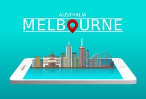 Melbourne City kostenloser Vektor