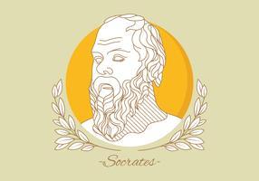 Porträt des Sokrates-Vektors