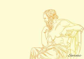 Sokrates filosofs illustration vektor