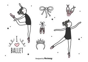 Ballett-Vektor-Set vektor