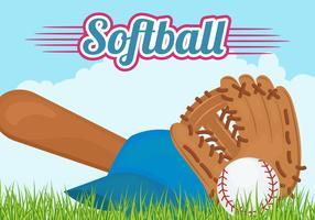 Softball-Ausrüstung Hintergrund