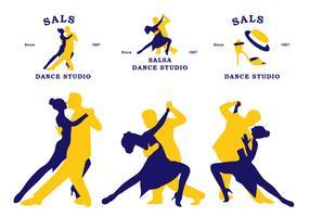 platt salsa community klistermärke vektor