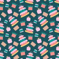 Alles Gute zum Geburtstag nahtloses Muster