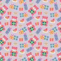 Alles Gute zum Geburtstag Muster mit Bär vektor