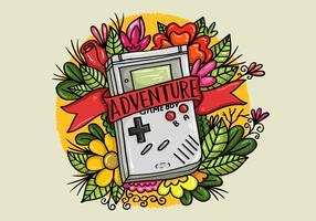 Gameboy Flower Tattoo Vektor