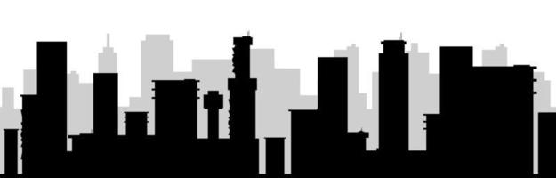 stadsbilden svart siluett sömlös gränsen vektor