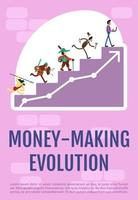 Geld verdienen Evolution Poster vektor