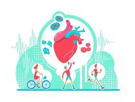 kardiovaskulära systemhälsovården vektor