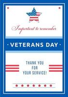 Veterans Day Event Poster