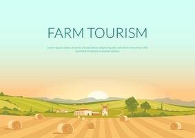 bauernhof Tourismus Plakat vektor