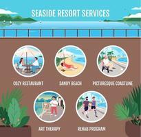 Dienstleistungen für Badeorte