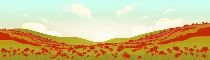 toskansk vallmofält vid soluppgång