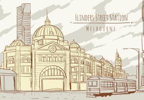 Flinders Street Station Melbourne vektor