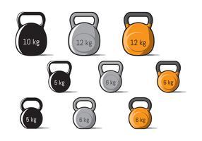 Kettle Bell Variant Vektoren