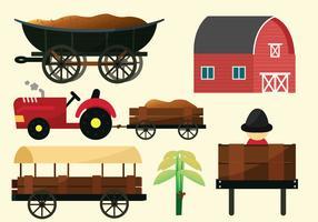 gård och ladugårdsvektor pack