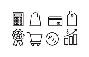 E-handel ikonuppsättning