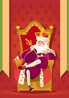 König hält ein Zepter vektor
