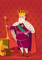 König mit Zepter-Vektor vektor