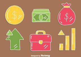 Inkomster Element På Brun Vektor