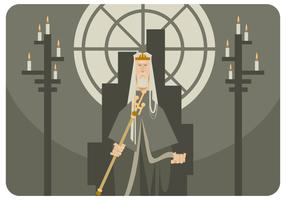 Der König auf dem Thron vektor